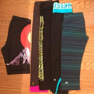 Lot of 5 leggings